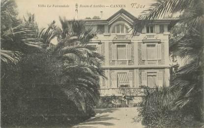 """CPA FRANCE 06 """"Cannes, villa la Farandole, rte d'Antibes"""""""
