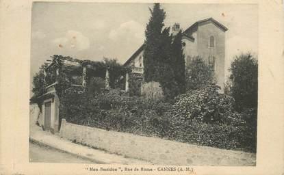 """CPA FRANCE 06 """"Cannes, villa Mon Bastidon, rue de Rome"""""""