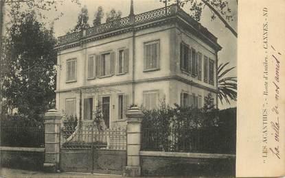 """CPA FRANCE 06 """"Cannes, Villa Les Acanthes"""""""