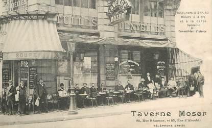 """CPA FRANCE 75002 """"Paris, Rue Réaumur, la Taverne MOSER"""" / JUDAICA?"""