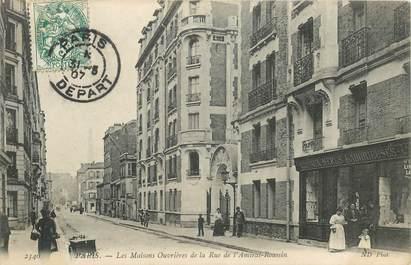 """CPA FRANCE 75015 """"Paris, les maisons ouvrières de la rue de l'Amiral Roussin"""""""