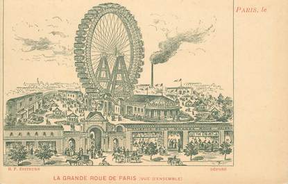 "CPA FRANCE 75008 ""Paris, rue de Suffren, la grande roue de Paris"""