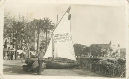 """CARTE PHOTO FRANCE 06 """"Cannes, leçon de Yachting"""""""