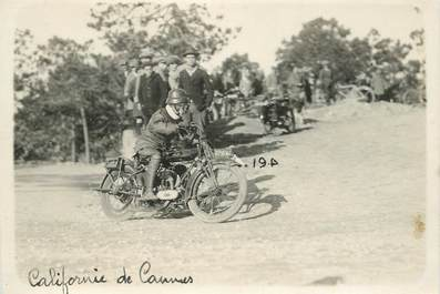 "PHOTO / CARTE PHOTO FRANCE 06 ""Cannes"" / MOTO"