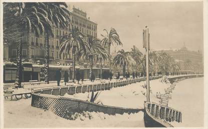 "CARTE PHOTO FRANCE 06 ""Cannes sous la neige"""
