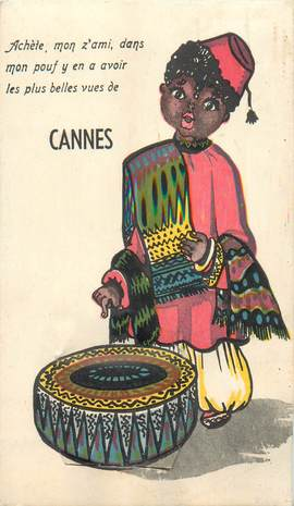 """CPA FRANCE 06 """"Cannes"""" / CARTE A SYSTEMES / DEPLIANT"""