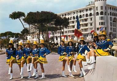 """CPSM FRANCE 06 """"Cannes, Majorettes devant l'Hotel Méditerranée"""""""