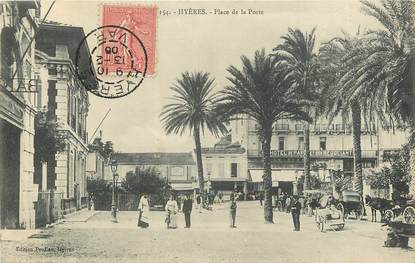 """CPA FRANCE 83 """"Hyères, place de la poste"""""""