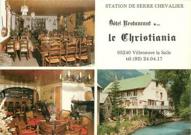 """CPSM FRANCE 05 """"Villeneuve la Salle, Hotel restaurant Le Christiania"""""""