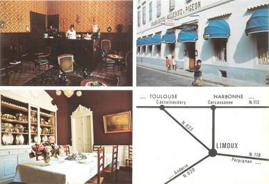 """CPSM FRANCE 11 """"Limoux, Hotel Moderne & Pigeon"""""""
