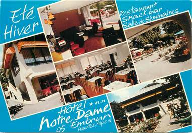 """CPSM FRANCE 05 """"Embrun, Hotel restaurant Notre Dame"""""""