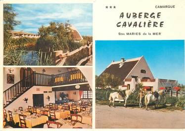 """CPSM FRANCE 13 """"Saintes Maries de la Mer, Auberge Cavaliere"""""""