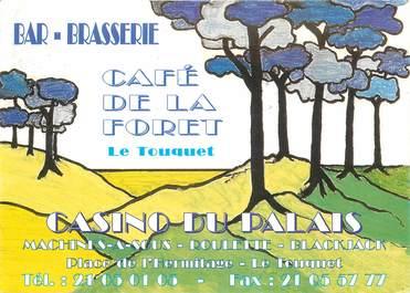 """CPSM FRANCE 62 """"Le Touquet, Restaurant Café de la Foret"""""""