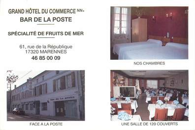 "CPSM FRANCE 17 ""Marennes, Grand Hotel du Commerce"""