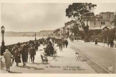 "CPA FRANCE 06 ""Menton, la promenade """