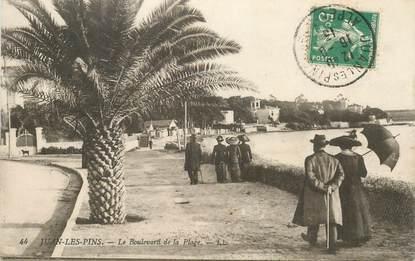 """CPA FRANCE 06 """"Juan les Pins, le bld de la plage"""""""