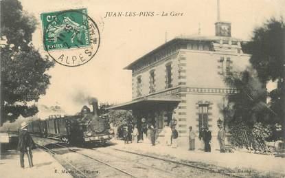 """CPA FRANCE 06 """"Juan les Pins, la gare"""""""
