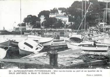 """CPSM FRANCE 06 """"Antibes, mini raz de marée 1979"""""""