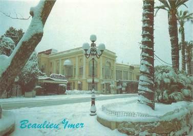 """CPSM FRANCE 06 """"Beaulieu, le casino sous la neige"""""""