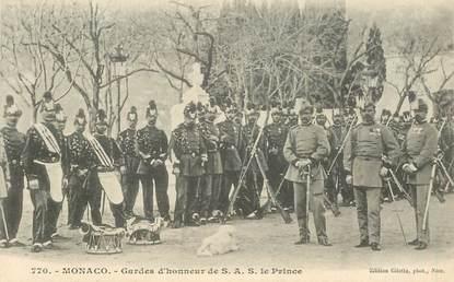 """CPA MONACO """"Gardes d'Honneur du Prince"""""""