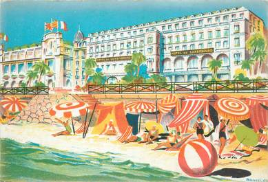 """CPA FRANCE 06 """"Nice, Hotel de Luxembourg"""""""