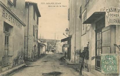 """CPA FRANCE 06 """"Golfe Juan, avenue de la gare"""""""