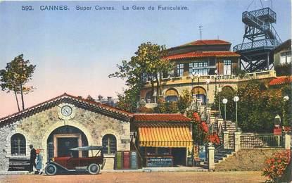 "CPA FRANCE 06 ""Cannes, La Gare du Funiculaire"""