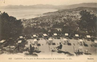 """CPA FRANCE 06 """"Cannes, vue prise du Plateau Observatoire de la Californie"""""""
