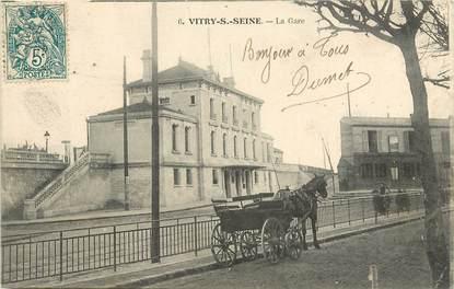 """CPA FRANCE 94 """"Vitry sur Seine, la gare"""""""