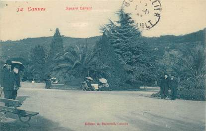 """CPA FRANCE 06 """"Cannes, Square Carnot"""""""