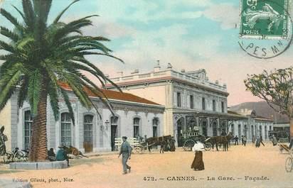"""CPA FRANCE 06 """"Cannes, la gare"""""""