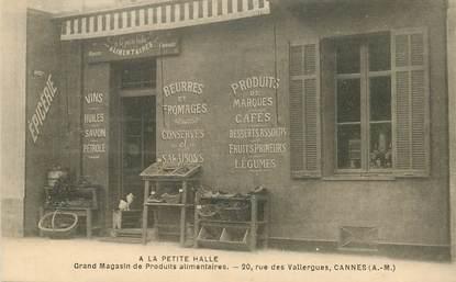 """CPA FRANCE 06 """"Cannes, Epicerie A la Petite Halle"""""""