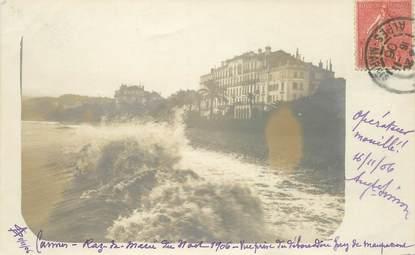 """CARTE PHOTO FRANCE 06 """"Cannes, raz de marée, 1906"""""""