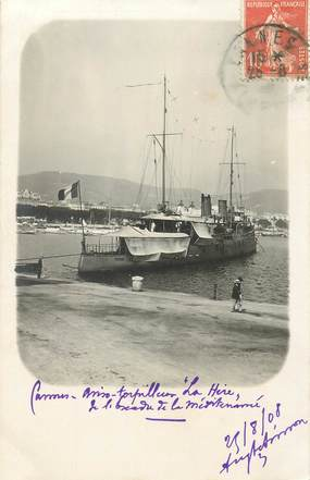 "CARTE PHOTO FRANCE 06 ""Cannes, Torpilleur"""