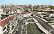 """16 Charente / CPSM FRANCE 16 """"Angoulême, place de la gare et les jardins"""""""