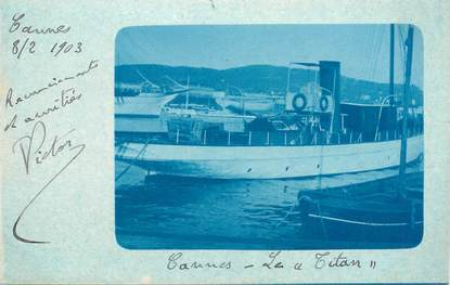 """CARTE PHOTO FRANCE 06 """"Cannes, bateau le Titan"""""""