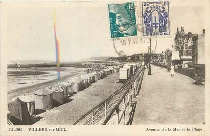 "/ CPA FRANCE 14 ""Villers sur Mer, av de la mer et la plage"""