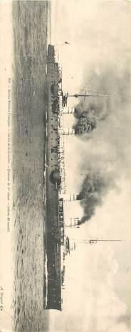 """CPA PANORAMIQUE BATEAU MILITAIRE """"Jurien de la Gravière, croiseur"""""""
