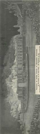 """CPA PANORAMIQUE BELGIQUE """"Bruxelles, incendie de l'Exposition Universelle, 1910"""""""