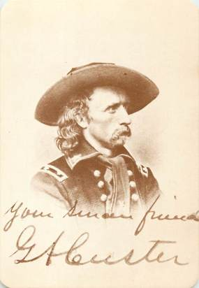 "CPA PANORAMIQUE USA / INDIEN ""Old West Collectors Series, General CUSTER"""