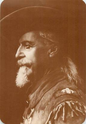 "CPA PANORAMIQUE USA / INDIEN ""Old West Collectors Series, BUFFALO BILL"""