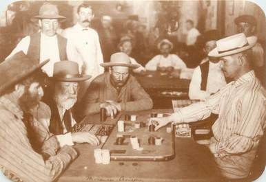 "CPA PANORAMIQUE USA / INDIEN ""Old West Collectors Series, Dans un Saloon"""