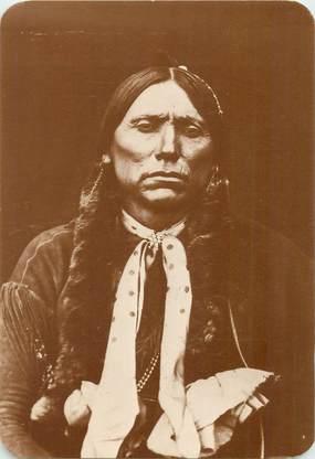 """CPA PANORAMIQUE USA / INDIEN """"Old West Collectors Series, Quanah PARKER, chef des Comanches"""""""