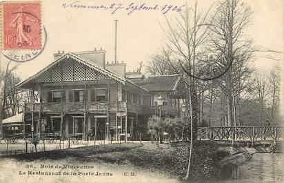 """CPA FRANCE 94 """"Bois de Vincennes, le restaurant de la Porte Jaune"""""""