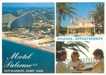 """CPSM FRANCE 06 """"Villeneuve Loubet, Hotel Palerme"""""""