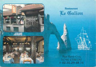 "CPSM FRANCE 76 ""Etretat, Restaurant Le Galion"""