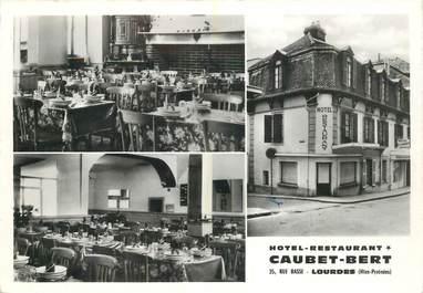 """CPSM FRANCE 65 """"Lourdes, Hotel Caubet Bert"""""""