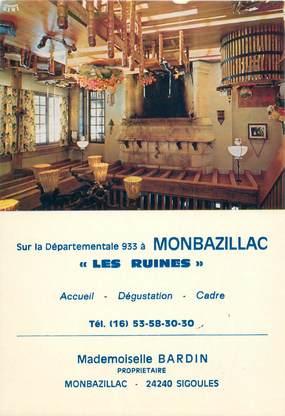 "CPSM FRANCE 24 ""Monbazillac, restaurant Les Ruines"""