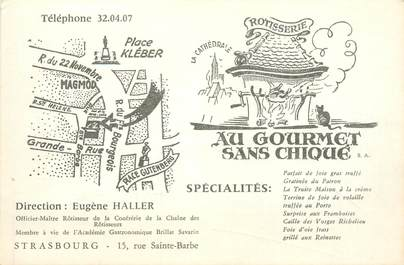 "CPSM FRANCE 67 ""Strasbourg, Restaurant Au Gourmet sans chique"""