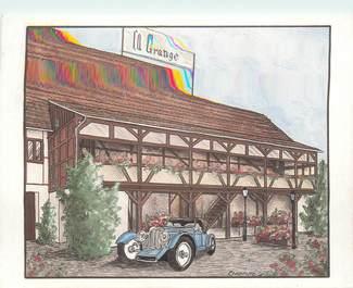 """CPSM FRANCE 68 """"Bartenheim la Chaussée, Restaurant La Grange"""""""